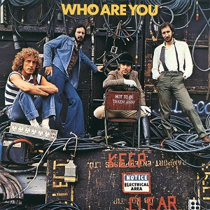 The famous album cover featuring Keith Moon and their classic rock album 'Who Are You'