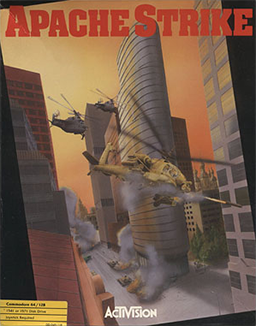 Cover for Commodore 64 version of Apache Strike