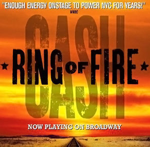 <i>Ring of Fire</i> (musical) jukebox musical based on the music of Johnny Cash