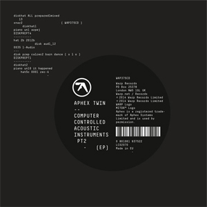 <i>Computer Controlled Acoustic Instruments pt2</i> extended play by Richard D. James under the pseudonym Aphex Twin
