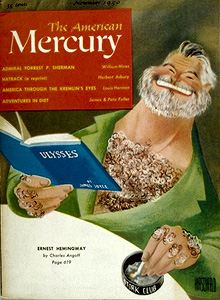 American Mercury with Al Hirschfeld's caricature of Ernest Hemingway