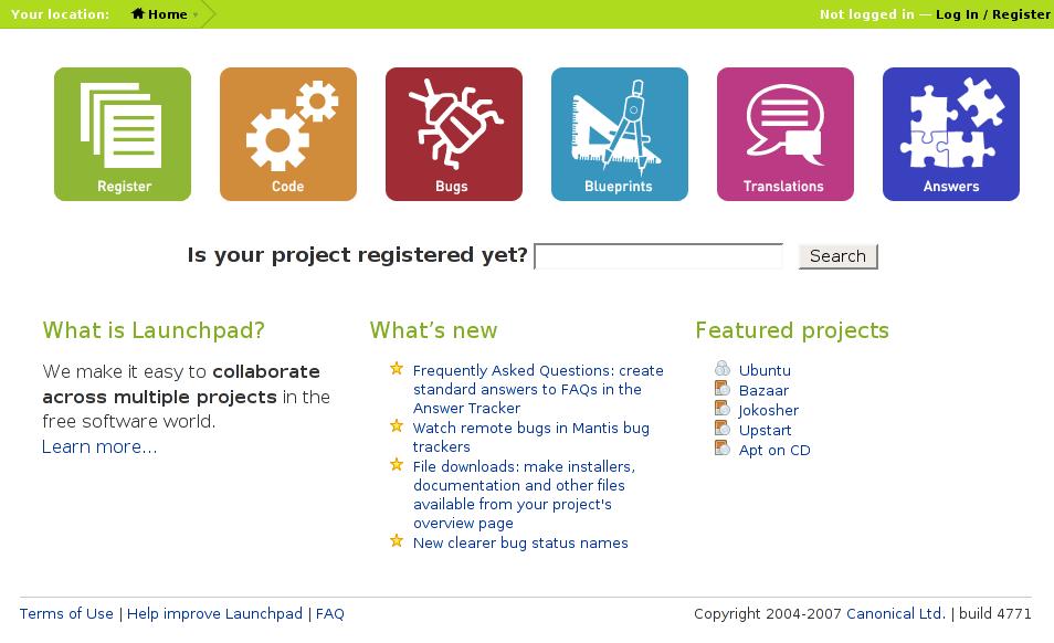 File:Launchpad homepage.png - Wikipedia