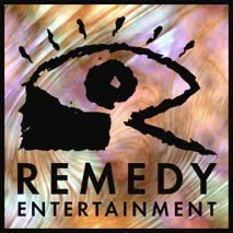 Remedy Entertainment's original logo, which was designed by Henri Loikkanen and introduced in tandem with Remedy's website on 1 July 1996.[3] The logo's appearance led LucasArts to threaten them with legal action, as a result of which the logo was taken down in July 1998.[4]