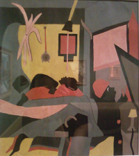 <i>Untitled (The Birth)</i> painting by Jacob Lawrence