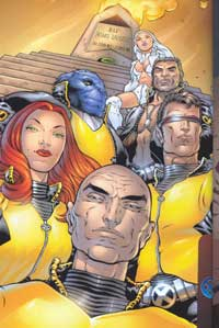 A worm's eye view of several X-Men