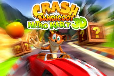 Crash Bandicoot Nitro Kart 3D title card