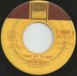 Come Get to This single by Marvin Gaye