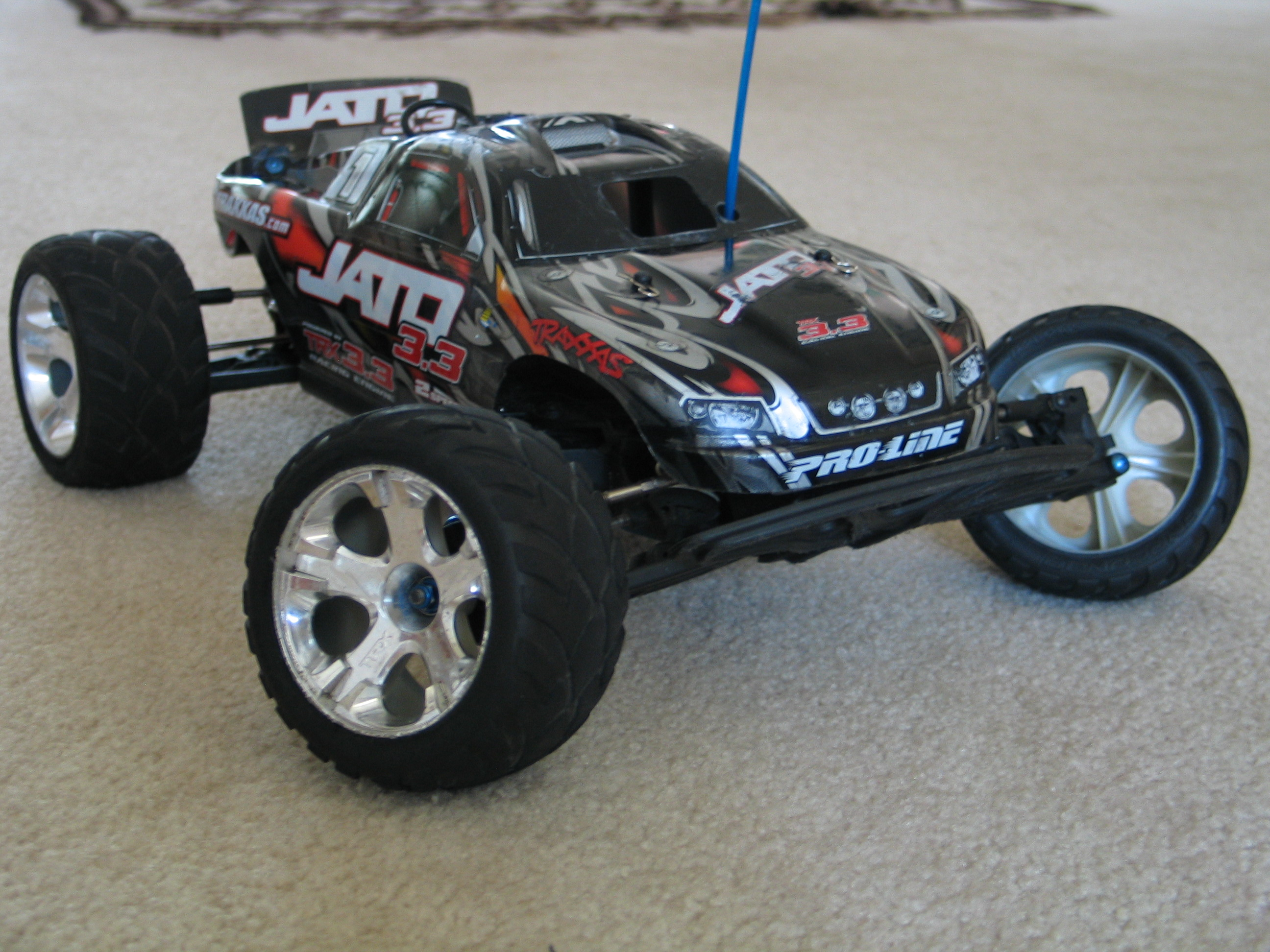 rc trucks electric with File Traxxas Jato on Watch besides Electric Slash 4x4 1 10 Scale Brushless Short Course Truck 60 Mph Mpn 68086 3 additionally Funny Mustang Memes together with USA Aircraft C 17 Globemaster III Largest 1 further File Traxxas jato.