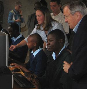 Peace Corps Director Ronald Tschetter observes...