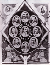The 1876 White Stockings won the N.L.'s first pennant