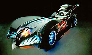 The Batmobile of Batman & Robin.