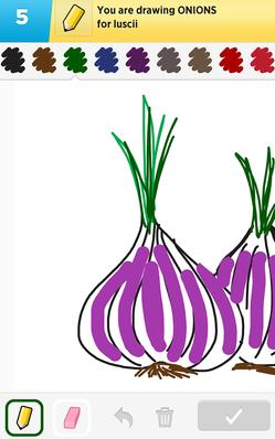 A representation of onions in the app