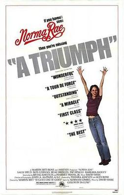 Theatrical release poster for Norma Rae, directed by Ritt