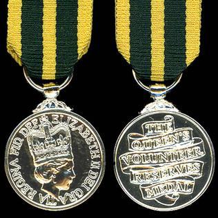 Queens Volunteer Reserves Medal Award