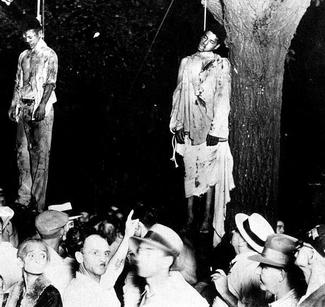 The 1930 lynching in Marion, Indiana of Thomas Shipp and Abram Smith