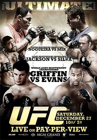 A poster or logo for UFC 92: The Ultimate 2008.