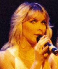 Cheryl Baker on stage in 1983