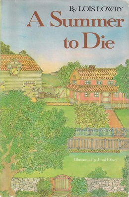 "Cover art from first edition of ""A Summer to Die"" by Lois Lowry"