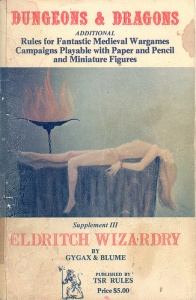 <i>Eldritch Wizardry</i> OD&D extension by Gary Gygax