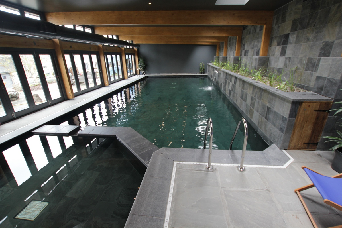 First Indoor Natural Swimming Pool