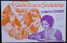 <i>Secrets of a Secretary</i> 1931 film by George Abbott