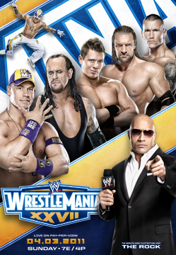 WrestleMania XXVII WrestleMania 27 Poster with The Miz & Others