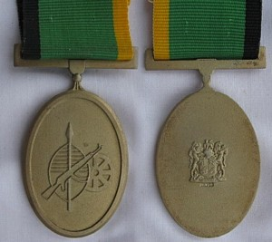 Service Medal in Gold