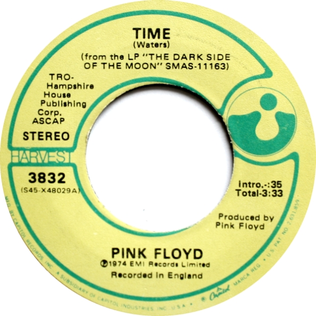 Time (Pink Floyd song) song by English progressive rock band Pink Floyd