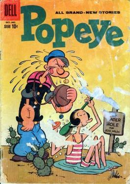 Bud Sagendorf's cover of Popeye #50 (Oct.-Dec....