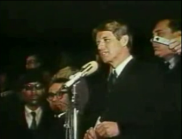 Robert Kennedy delivers his speech