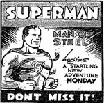 Advertisement for SUPERMAN daily comic strip.png