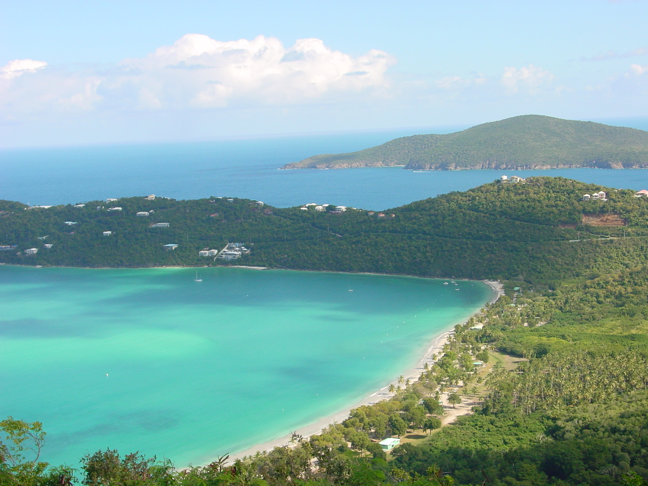 Magen's Beach as seen from Mountain Top, St. T...