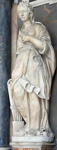 Statue fra forhallen i kirken Santa Cecilia i Trastevere