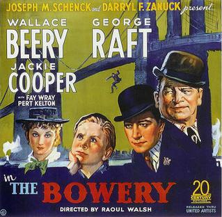 <i>The Bowery</i> (film) 1933 film by Raoul Walsh