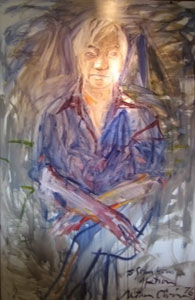 'Portrait of John Young', acrylic on canvas painting by Nathan Oliveira, 1976, Yohn Young Museum of Art, University of Hawaii at Manoa.jpg