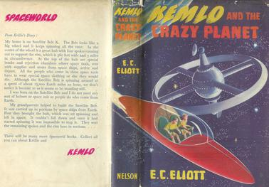 Cover of Kemlo and the Crazy Planet', 1954, Illustration by R.J.Jobson