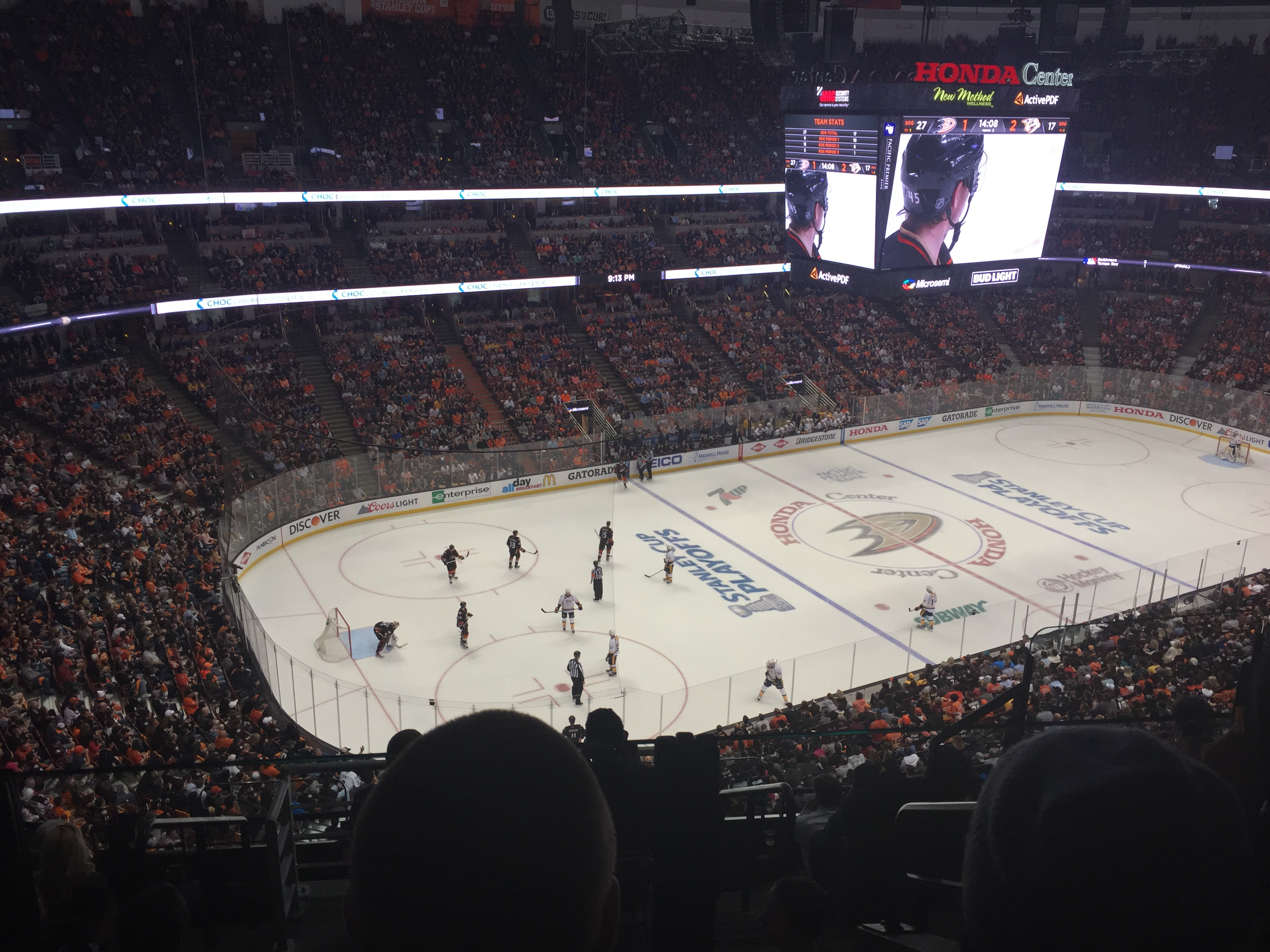Superb The New Scoreboard At Honda Center As Seen From Section 438 During The 2016  Stanley Cup Play Offs On April 27, 2016