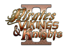 The logo for Pirates, Vikings and Knights II.