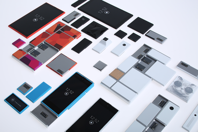 Google Project Ara modules displayed