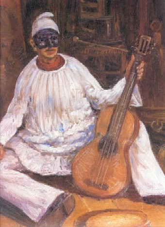 Pulcinella with a guitar PulcinellaGuitar.jpg