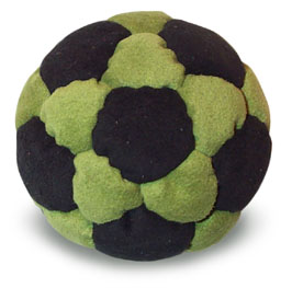 an introduction to the game of hackysac or footbag Hacky sack, also called footbag by many, is a game that is played with one or more people where the main goal is to juggle a small sack without the use of your hands and primarily with your feet for the purpose of keeping the bag from falling onto the ground.