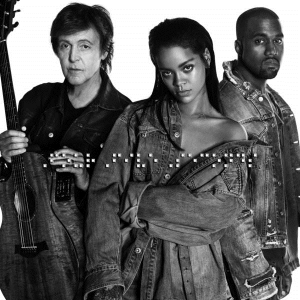 Rihanna, Kanye West and Paul McCartney - FourFiveSeconds (studio acapella)