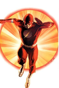 Barry Allen depicted in Justice #1 (August 2005). Art by Alex Ross.