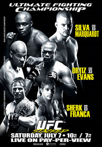A poster or logo for UFC 73: Stacked.