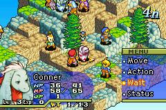 Screenshot of a battle in Final Fantasy Tactic...