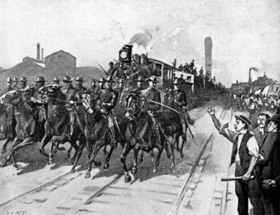 The railroad strike that happened in the 1870s