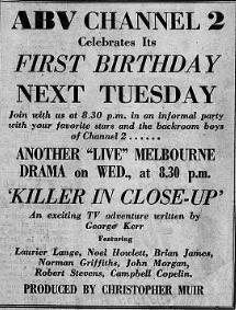 <i>Killer in Close-Up</i> 1957 Australian television film