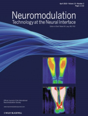 Neuromodulation Technology at the Neural Interface journal cover, July 2012 - published by Wiley.jpg