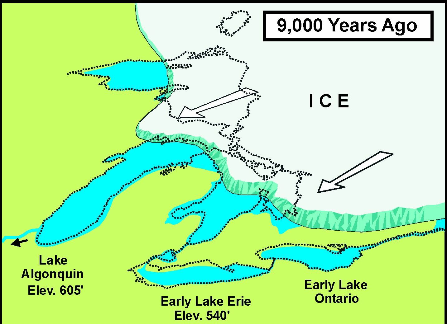 FileUSCOE Glacial Map  BCEjpg Wikipedia - Chicago map lake michigan