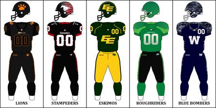 Cfl Football Uniforms